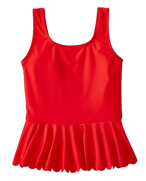 Girls Scallop Flounce Tankini Top by Hanna Andersson
