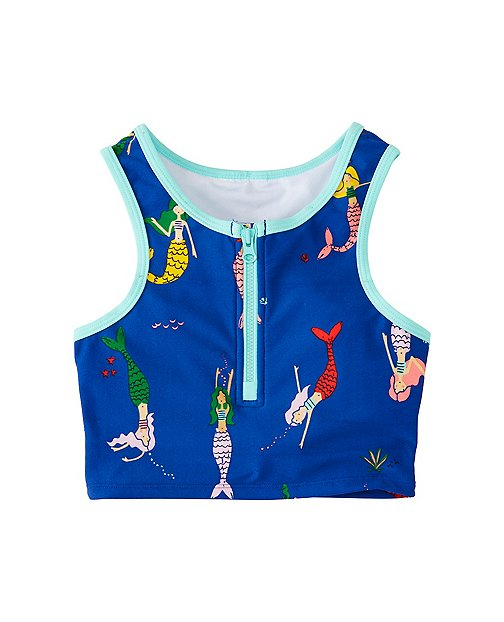 Girls Front Zip Tankini Top by Hanna Andersson