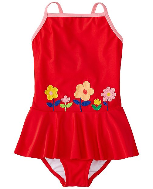 Girls Appliqué One Piece by Hanna Andersson