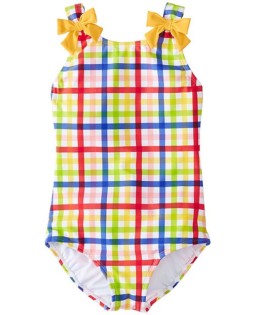 Girls Shoulder Bow One Piece by Hanna Andersson