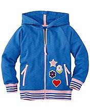 Girls Chenille Patch Hoodie In 100% Cotton by Hanna Andersson