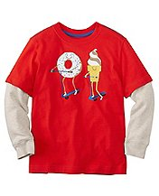 Boys Double Sleeve Art Tee In Supersoft Jersey by Hanna Andersson