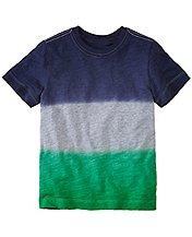 Boys Slub Jersey Dip Dye Tee by Hanna Andersson