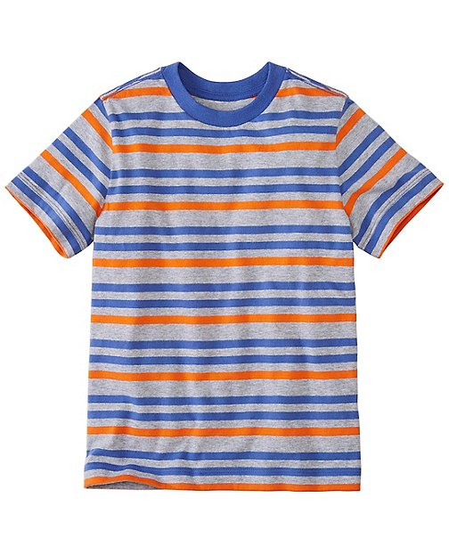 Boys Doublestripes Tee In Supersoft Jersey by Hanna Andersson