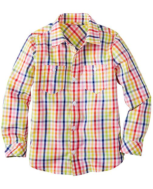Boys Plaid Shirt In Supersoft Cotton by Hanna Andersson