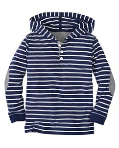Boys Striped Hoodie Tee In Supersoft Jersey by Hanna Andersson