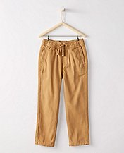 Boys Washed Cotton Slim Chinos by Hanna Andersson