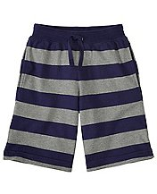 Boys Heavy Jersey Striped Shorts by Hanna Andersson