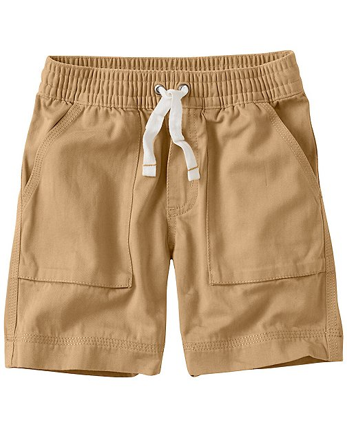 Boys Washed Twill Cabin Shorts by Hanna Andersson