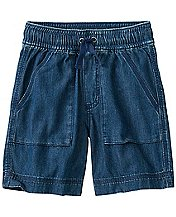 Boys Cabin Shorts In Washed Chambray   by Hanna Andersson