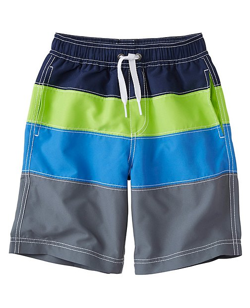 Boys Colorblock Board Shorts With UPF 50+ by Hanna Andersson