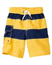 Boys Cargo Swim Trunks With UPF 50+ by Hanna Andersson