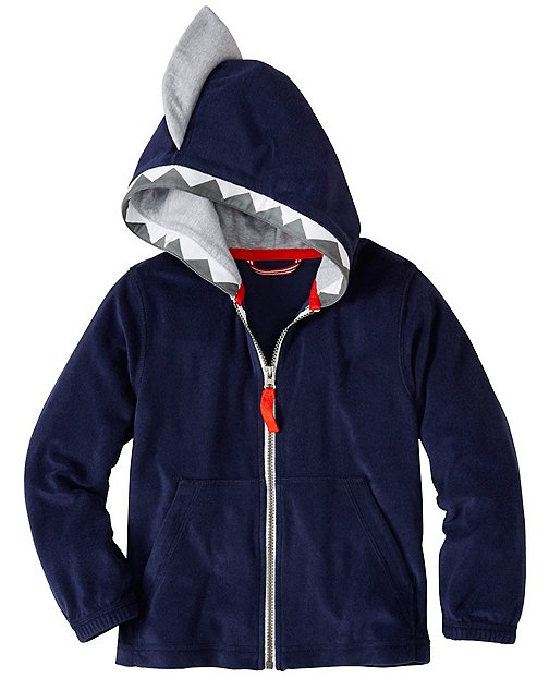 Boys Open Wide Hoodie In Sunsoft Terry by Hanna Andersson