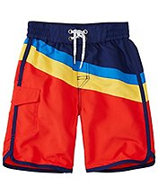 Boys Cargo Board Shorts With UPF 50+ by Hanna Andersson