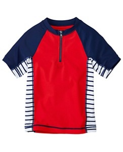 Boys Sun-Ready Half Zip Rash Guard by Hanna Andersson