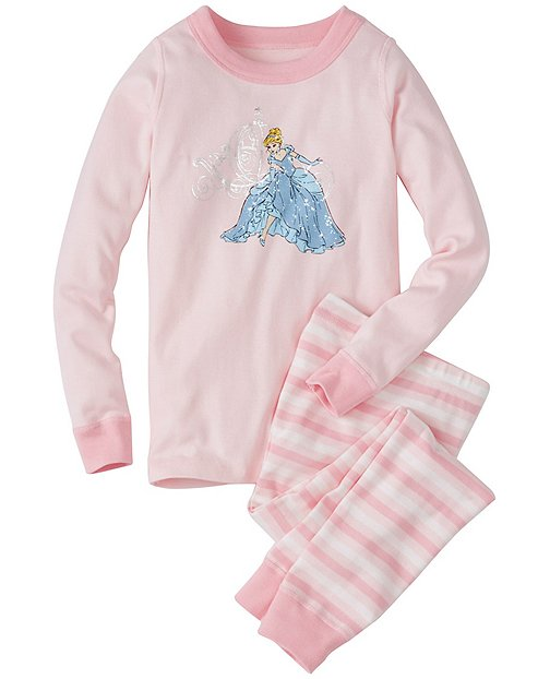 Kids Disney Princess Sparkle Long John Pajamas In Organic Cotton by Hanna Andersson