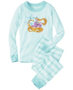 Kids Disney Princess Sparkle Long John Pajamas In Organic Cotton by Hanna Andersson