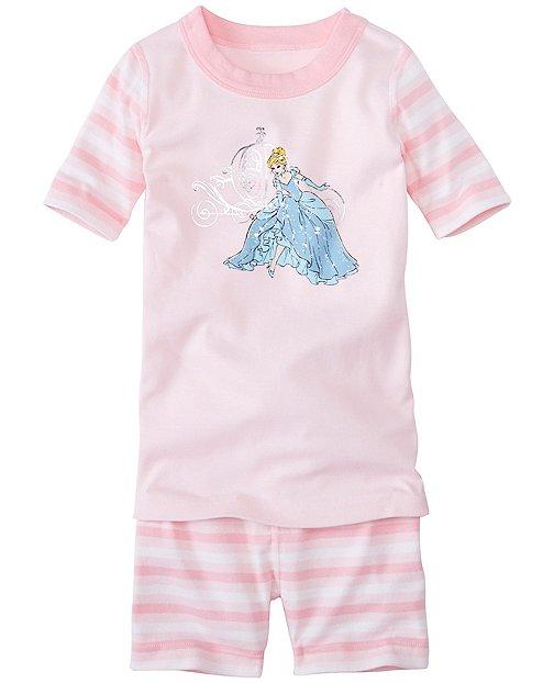 Kids Disney Princess Sparkle Short John Pajamas In Organic Cotton by Hanna Andersson