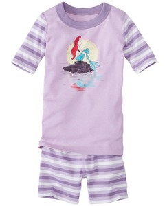 Kids Disney Princess Sparkle Short John Pajamas In Organic Cotton by Hanna Andersson