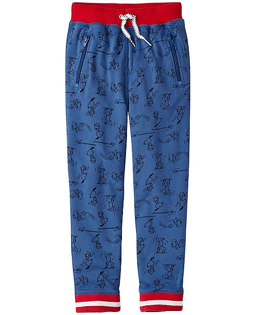 Peanuts Boys Slim Sweats In 100% Cotton by Hanna Andersson