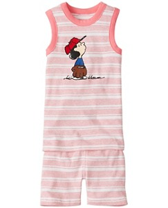 Peanuts Kids Tank John Pajamas In Organic Cotton by Hanna Andersson