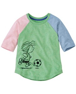 Peanuts Girls Baseball Tee in Supersoft Jersey by Hanna Andersson