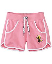Peanuts Girls Pocket Shorts In French Terry  by Hanna Andersson