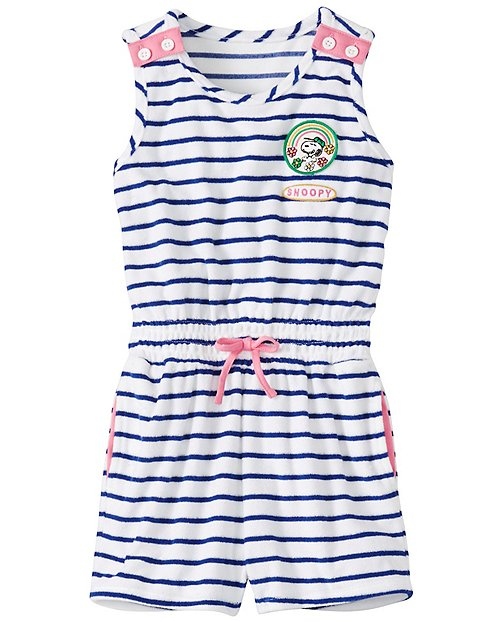 Peanuts Girls Sunsoft Terry Romper Cover-up by Hanna Andersson