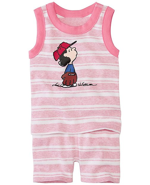 Peanuts Baby Tank John Pajamas In Organic Cotton by Hanna Andersson