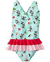 Girls Disney Minnie Mouse Crossback Ruffle One Piece by Hanna Andersson