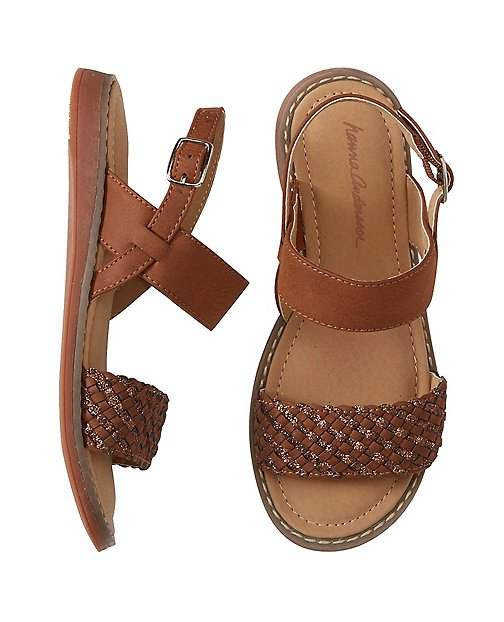 Kids Faye Shimmer Sandals By Hanna