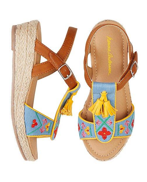 Girls Anka Espadrille Sandals By Hanna