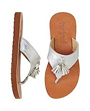 Girls Tilde Tassel Flip Flops By Hanna