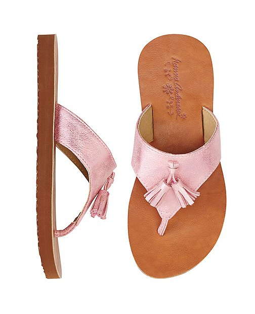 Girls Tilde Tassel Flip Flops By Hanna