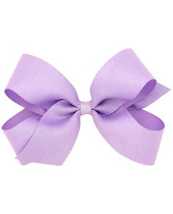 Girls Big Glitter Ribbon Bow Clip by Hanna Andersson