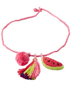 Girls Handcrafted Crochet Charm Necklace by Hanna Andersson
