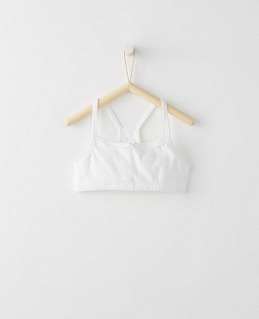 Girls Racerback Bralette In Organic Cotton With Stretch by Hanna Andersson