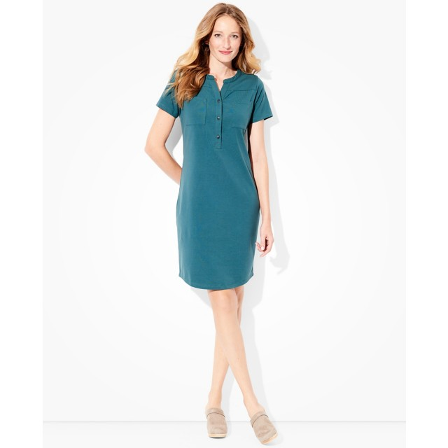 Women's Modern Henley Dress by Hanna Andersson