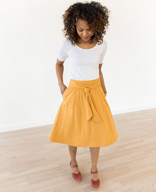 Women Tie Front Skirt by Hanna Andersson
