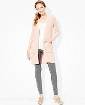 Women's Long Cardigan In Supersoft Slub  by Hanna Andersson