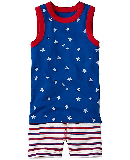 Kids Tank John Pajamas In Organic Cotton by Hanna Andersson