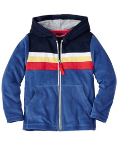 Boys Colorblock Hoodie In Sunsoft Terry by Hanna Andersson