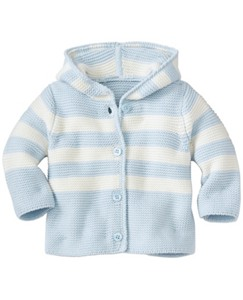 Baby Hoodie Stripe Cardigan In Organic Cotton by Hanna Andersson