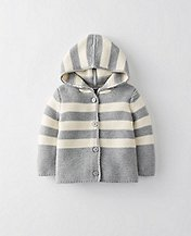Baby Hoodie Cardigan In Organic Cotton by Hanna Andersson