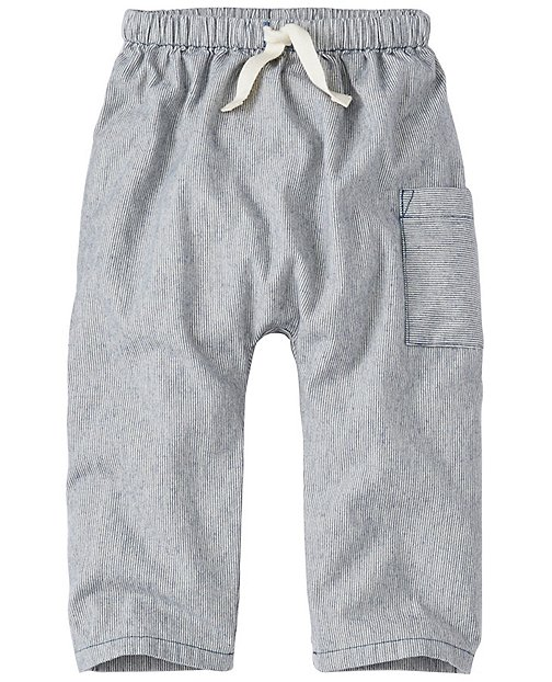 Toddler Chambray Ticking Cozy Pants by Hanna Andersson