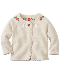Toddler Hand Embroidered Cardigan by Hanna Andersson