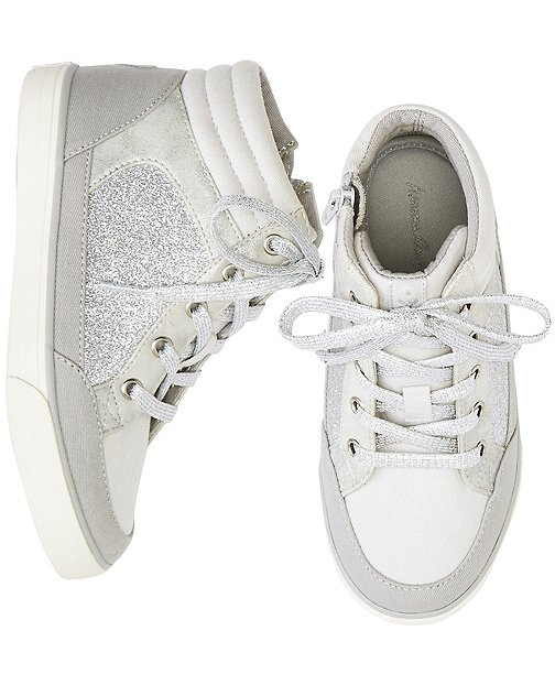Girls Ulla High Top Glitter Sneakers By Hanna