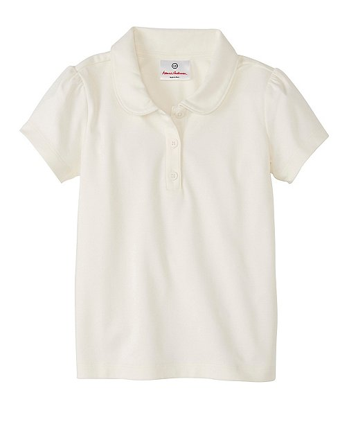 Girls Peter Pan Polo In Organic Pima Cotton by Hanna Andersson