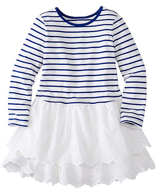 Girls Stripes Love Ruffles Dress by Hanna Andersson