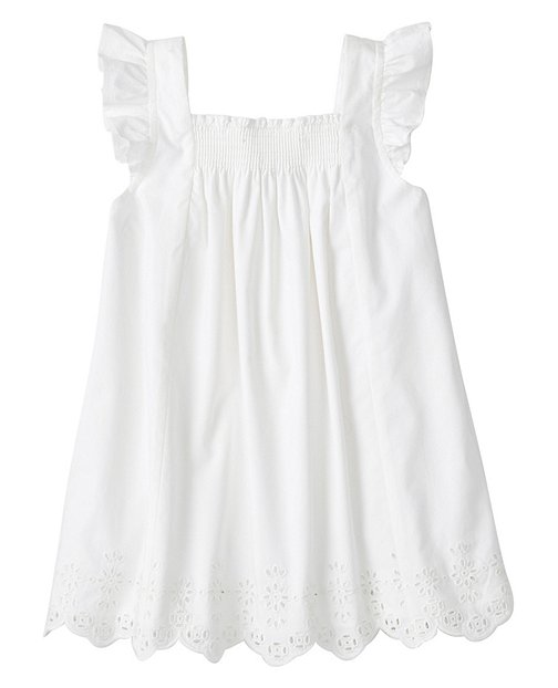 Girls Popover And Play Top In Eyelet by Hanna Andersson